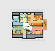 EBH 3 mit Einliegerwohnung Grundriss