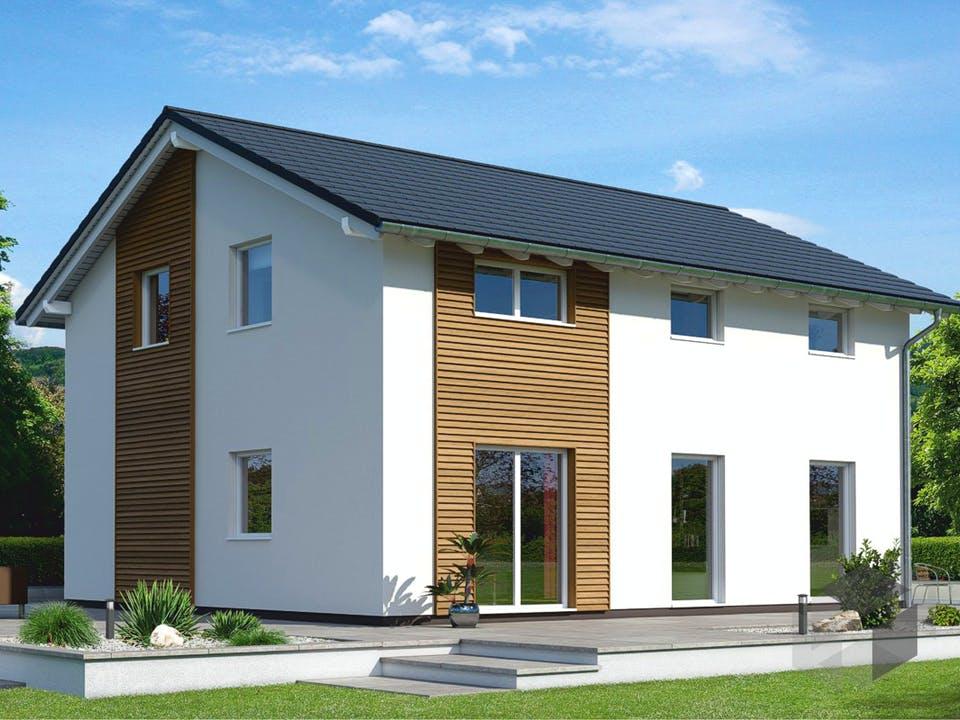 Einfamilienhaus Ratio 3/25° mit Ankleide von EBH Haus Außenansicht