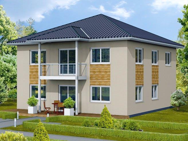 Stadtvilla S 4 B mit Balkon von EBH Haus Außenansicht 1