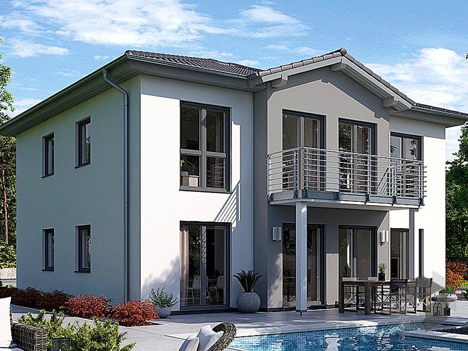 Stadtvilla S 4 B mit Balkon von EBH Haus Außenansicht