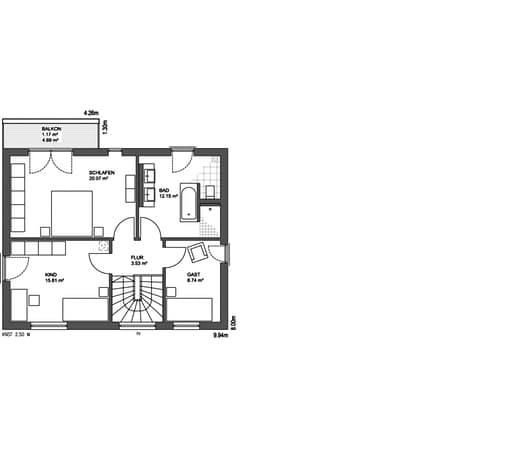 Edition 21 plus Pultdach Klassik floor_plans 0