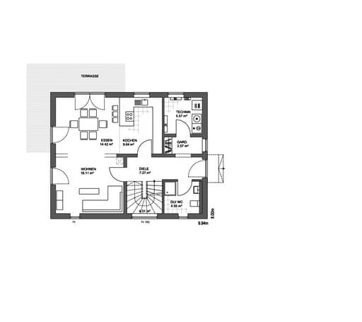 Edition 21 plus Satteldach Modern floor_plans 1