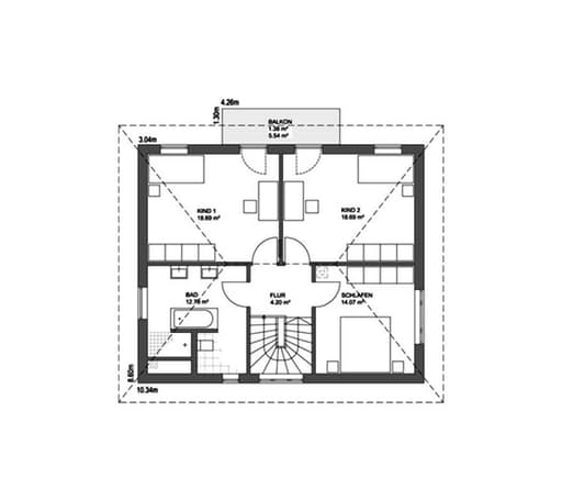 Edition 21 plus Walmdach floor_plans 0