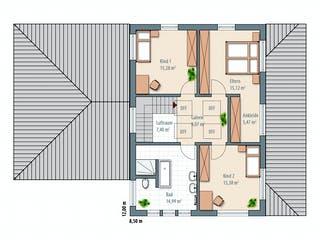 Edition Select 186 von Wolf-Haus Grundriss 1