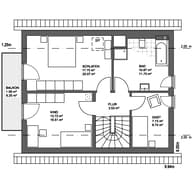 Edition 21 plus Satteldach Landhaus Grundriss