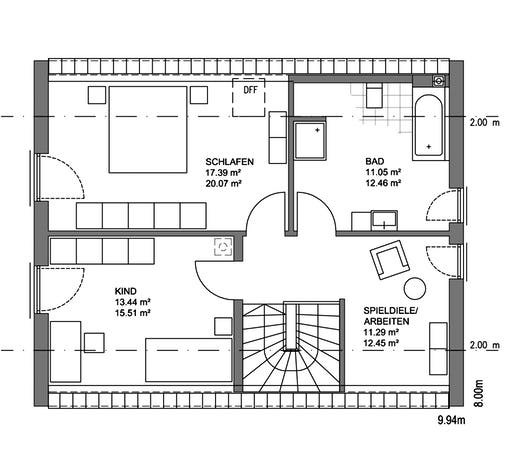 Edition 21 Plus Satteldach Floorplan 2