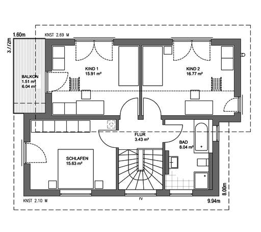Edition 21 Plus Pultdach Modern Floorplan 2
