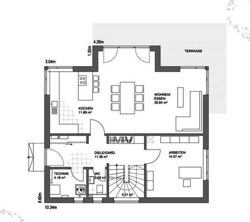 Edition 21 Plus Walmdach Floorplan 01