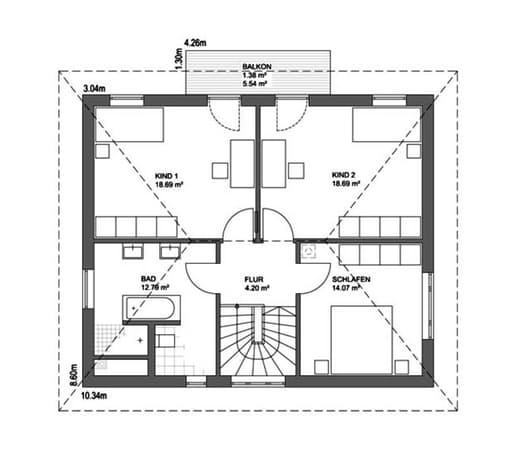 Edition 21 Plus Walmdach Floorplan 02