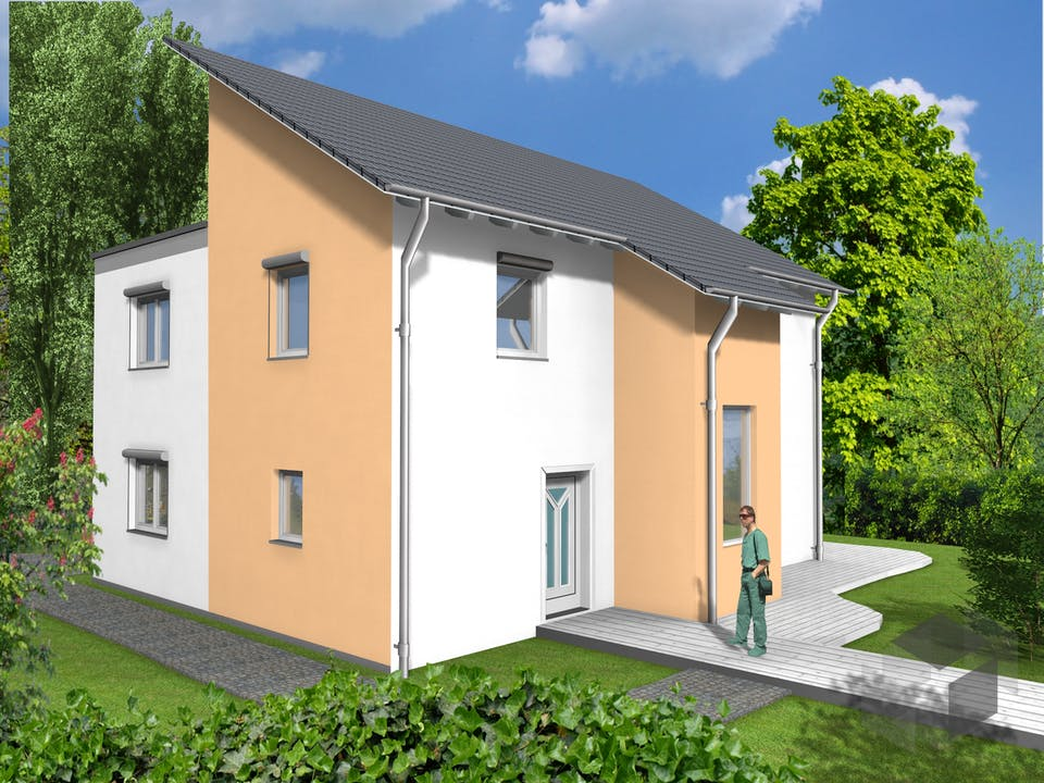 EFH Typ 4 von Tussa Holzhäuser Außenansicht