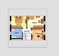 Einfamilienhaus A 2 L 45° Grundriss
