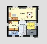 Einfamilienhaus A 2 Grundriss