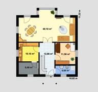 Einfamilienhaus A 3 Edition 500 Grundriss