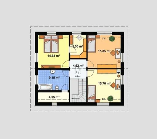 "Einfamilienhaus ""Ratio 3/25°"" mit Ankleide floor_plans 0"