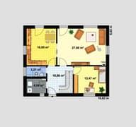 Einfamilienhaus Ratio 3/25° mit Ankleide Grundriss