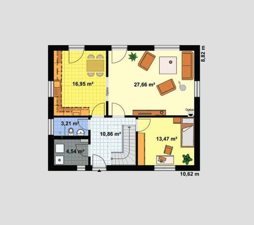 "Einfamilienhaus ""Ratio 3/25°"" mit Ankleide floor_plans 1"