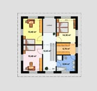 Einfamilienhaus Ratio 5/25° mit Ankleide Grundriss