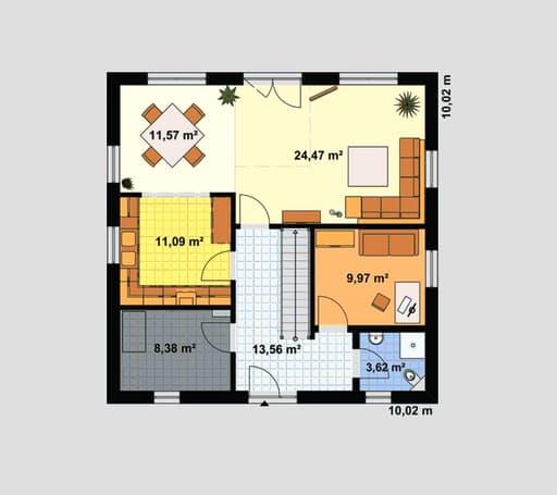 "Einfamilienhaus ""Ratio 5/25°"" mit Ankleide floor_plans 1"