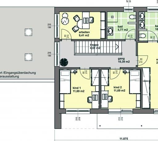 Elk 174 out von elk fertighaus komplette for Floor plans for 160 000
