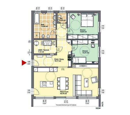 ELK AT Bungalow 120 FD Floorplan 1