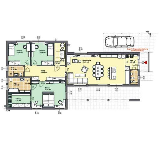 ELK AT Bungalow 147 FD Floorplan 1