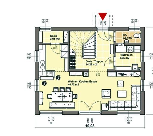 Elk living 130 out von elk fertighaus komplette for Floor plans for 160 000