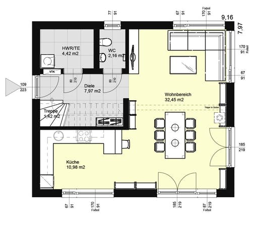 ELK AT Top Living 117 FD Floorplan 1