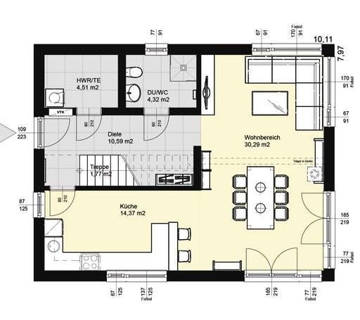 ELK AT Top Living 129 WD Floorplan 1