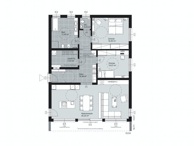 ELK AT Bungalow 120 FD Floorplan 1