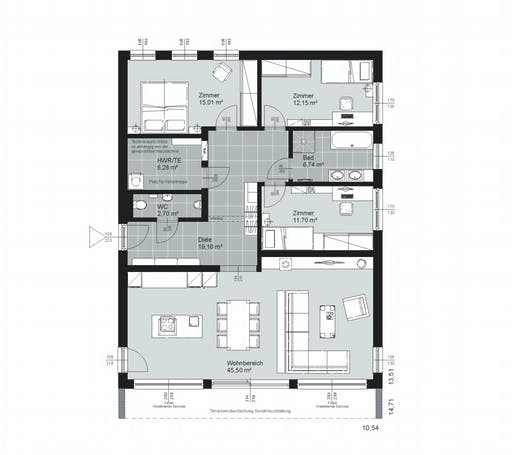 ELK AT Bungalow 120 FD Floorplan 2