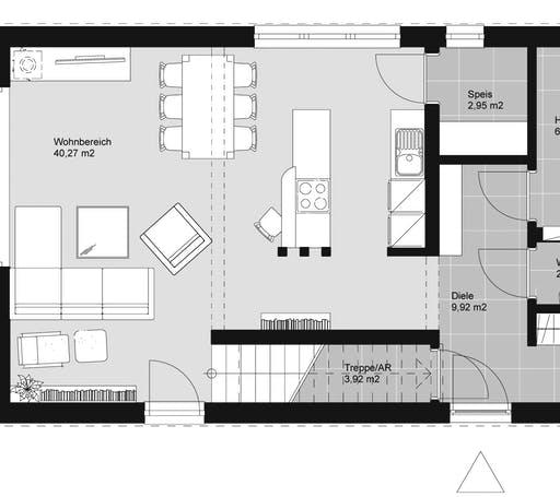 ELK HAUS 132 Flachdach Floorplan 1