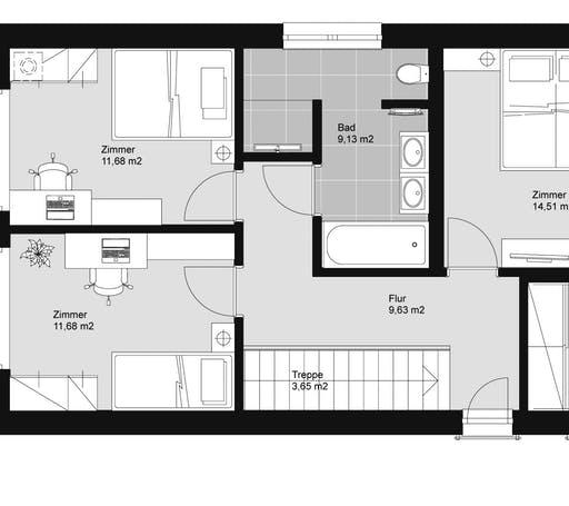 ELK HAUS 132 Flachdach Floorplan 2
