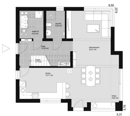 ELK HAUS 145 Flachdach Floorplan 1