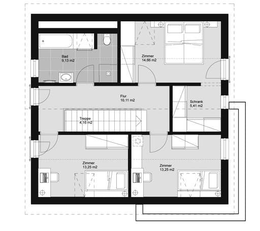ELK HAUS 145 Flachdach Floorplan 2