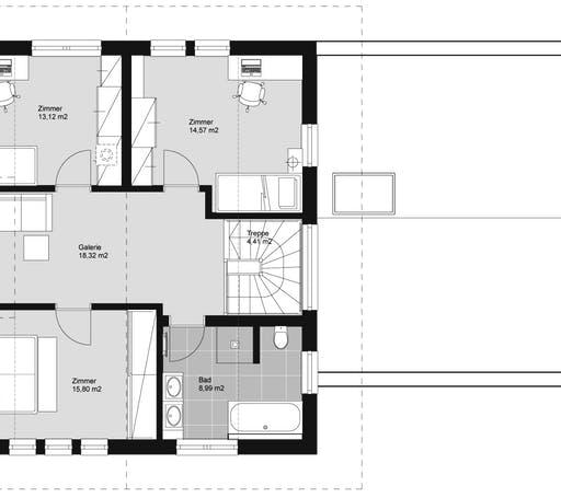 ELK HAUS 153 Satteldach Floorplan 2
