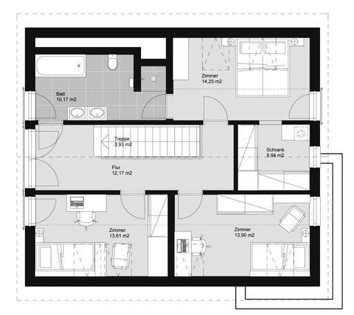 ELK HAUS 155 Satteldach 40 Floorplan 2