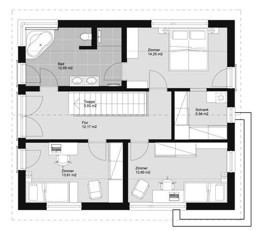 ELK HAUS 155 Walmdach Floorplan 2