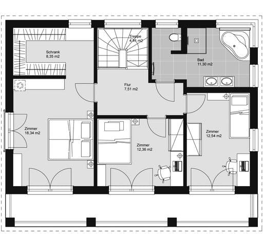 ELK HAUS 158 Flachdach Floorplan 2