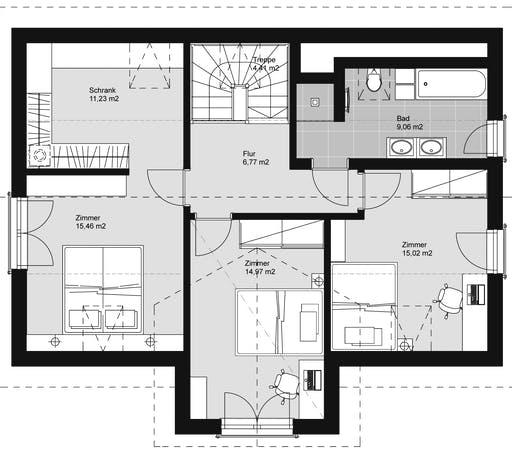 ELK HAUS 158 Satteldach 40° Floorplan 2