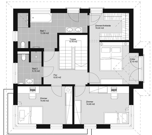elk haus 161 walmdach inactive von elk fertighaus. Black Bedroom Furniture Sets. Home Design Ideas