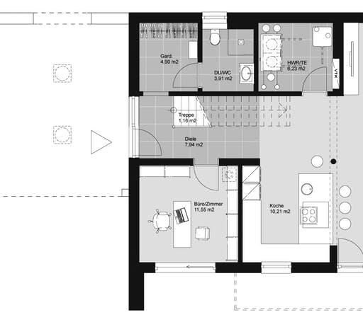ELK HAUS 174 Flachdach Floorplan 1