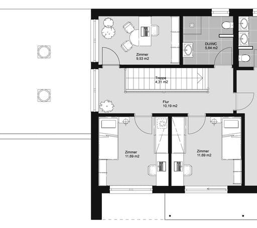 ELK HAUS 174 Flachdach Floorplan 2