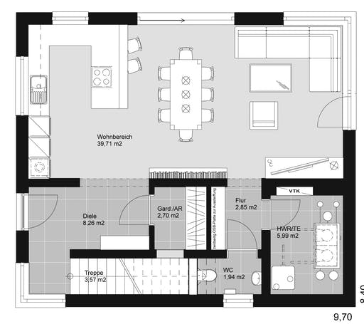 ELK HAUS 178 Flachdach Floorplan 1
