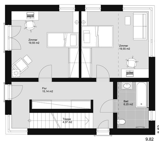 ELK HAUS 178 Flachdach Floorplan 2