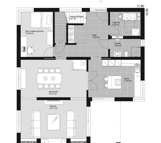 ELK HAUS 186 Flachdach Floorplan 1