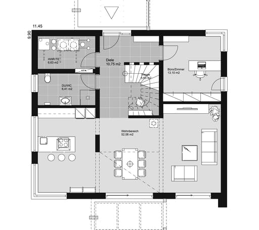 ELK HAUS 189 Flachdach Floorplan 1