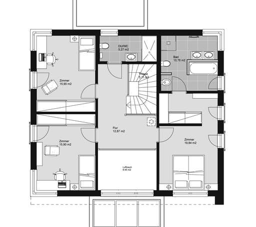 ELK HAUS 189 Flachdach Floorplan 2