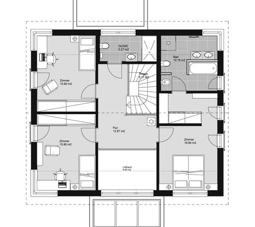 ELK HAUS 189 Satteldach 25° Floorplan 2