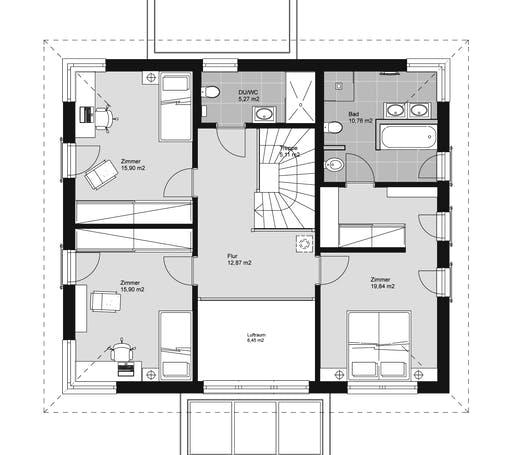 ELK HAUS 189 Walmdach Floorplan 2