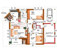 Energie-Plus-Haus Grundriss